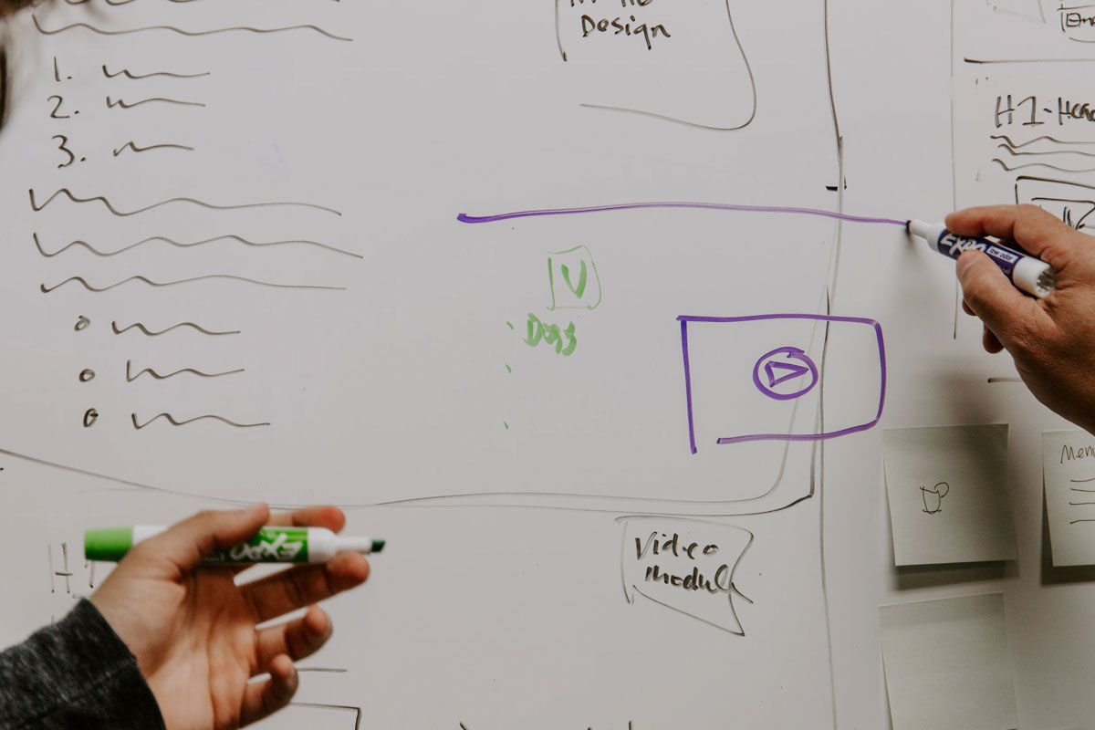 Wireframe on a Whiteboard